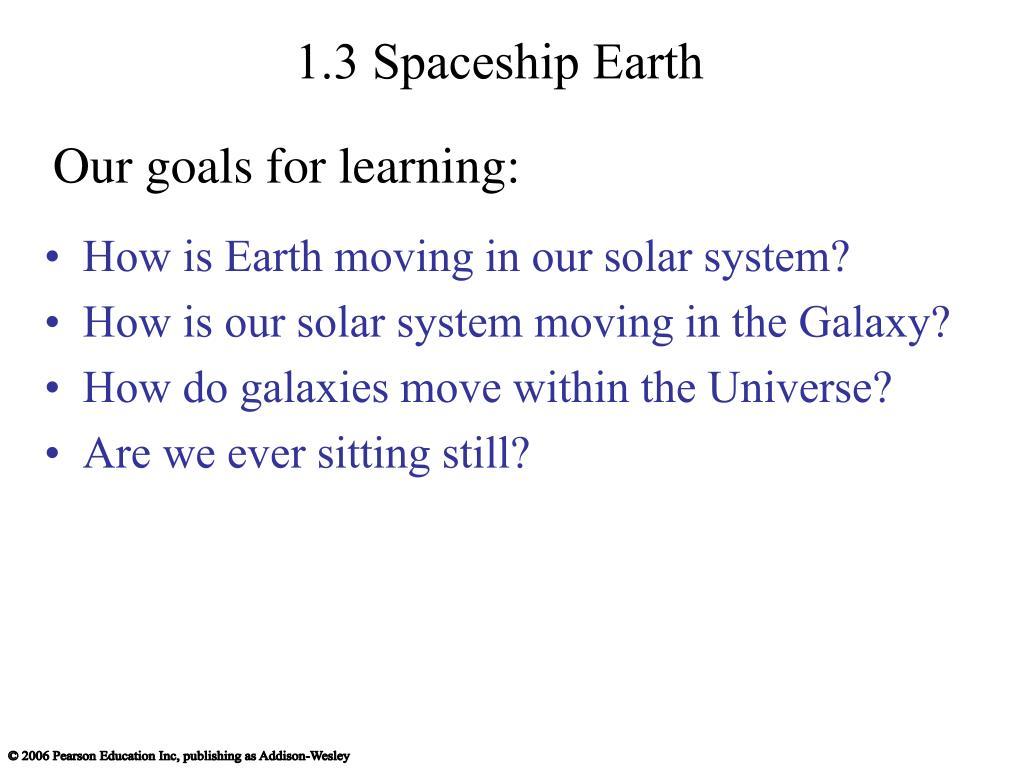 1.3 Spaceship Earth