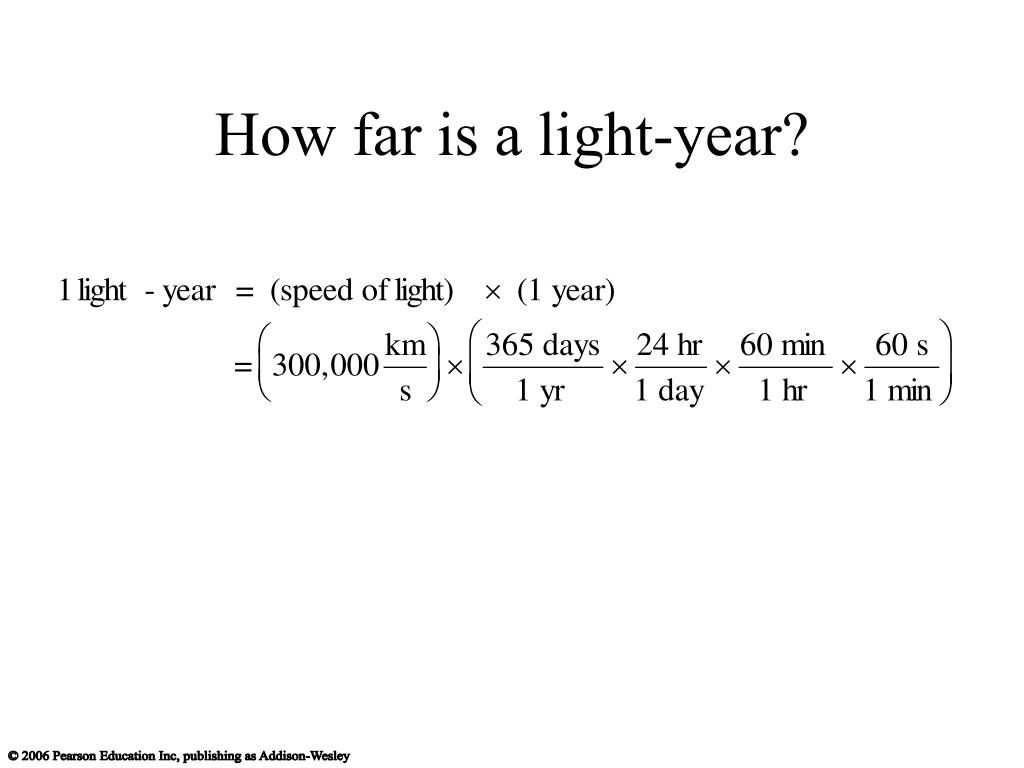 How far is a light-year?