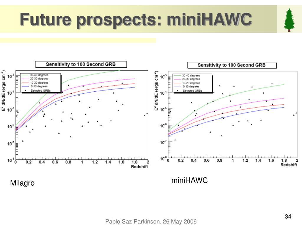 Future prospects: miniHAWC