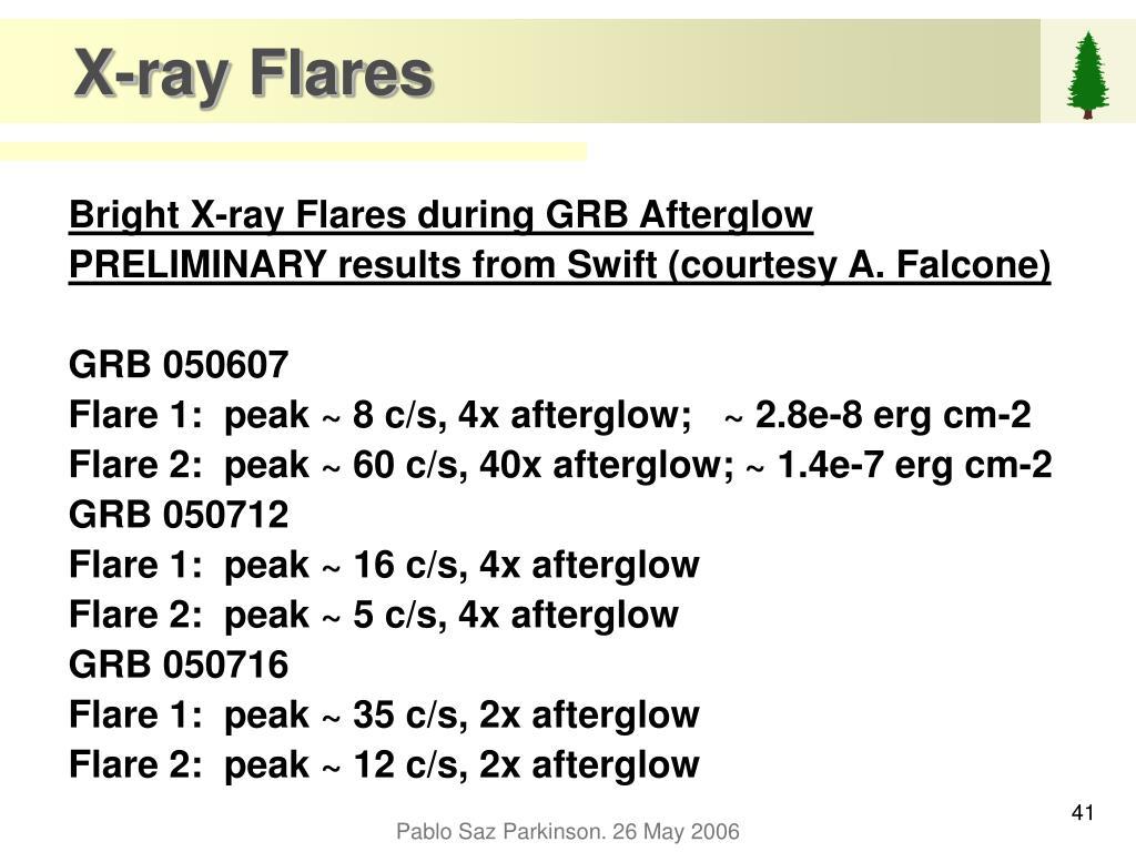X-ray Flares