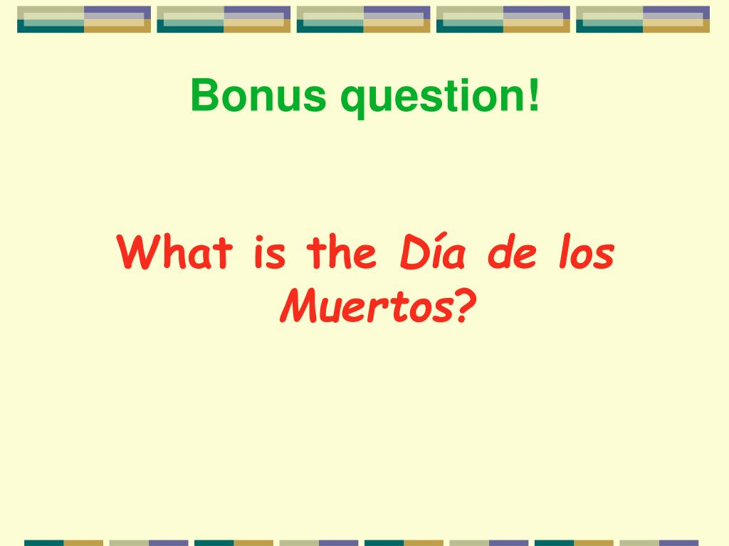 Bonus question!