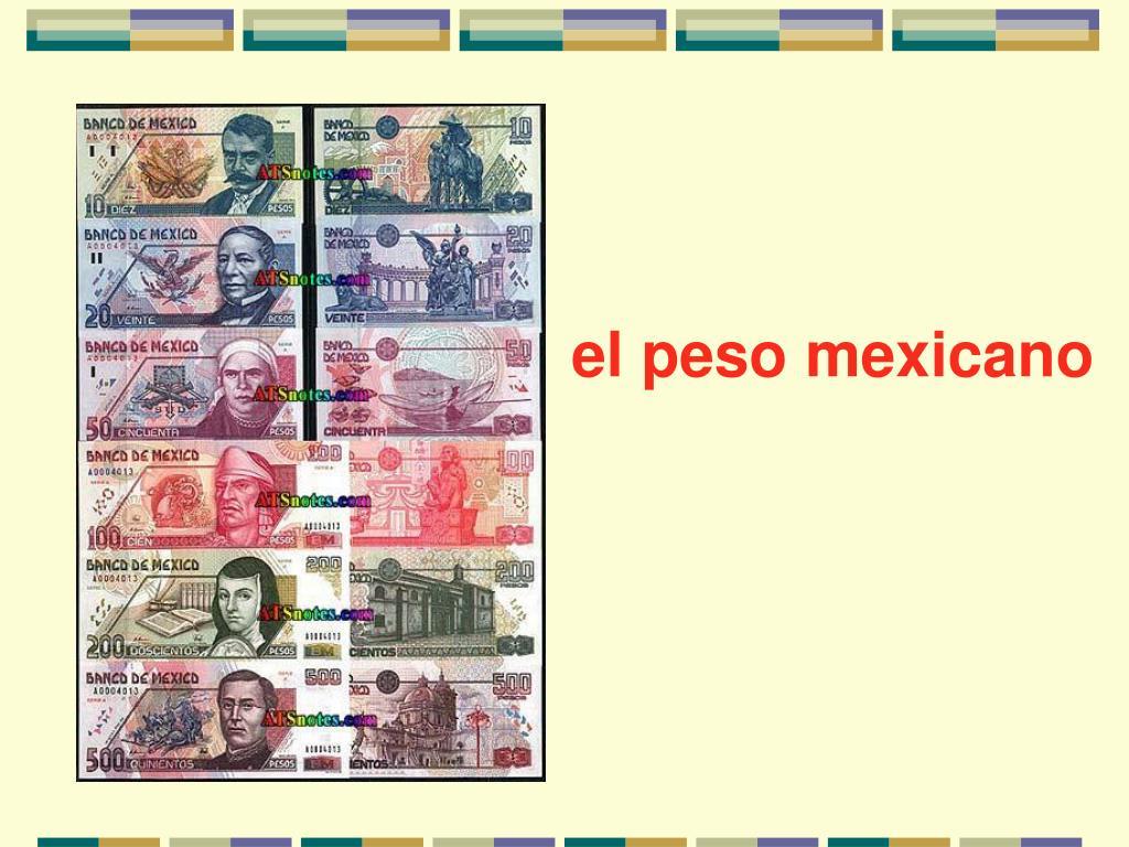 el peso mexicano