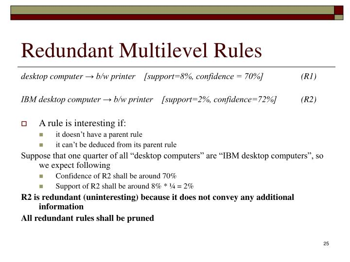 Redundant Multilevel Rules