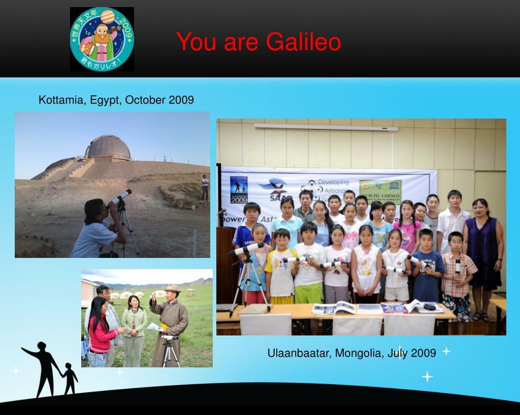 You are Galileo