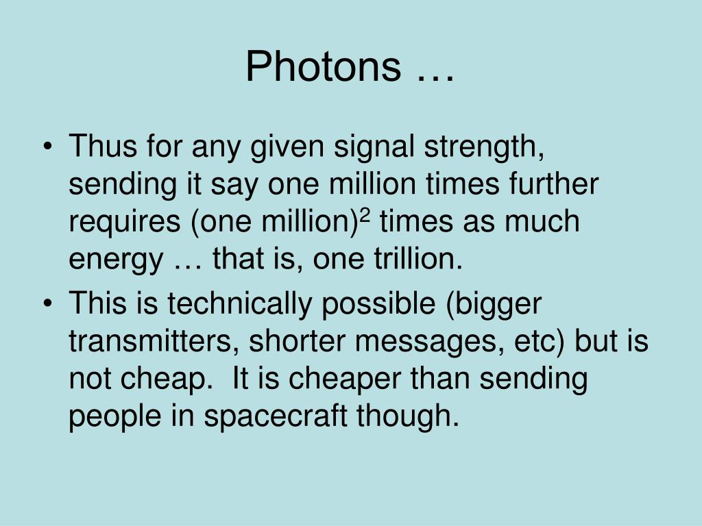 Photons …