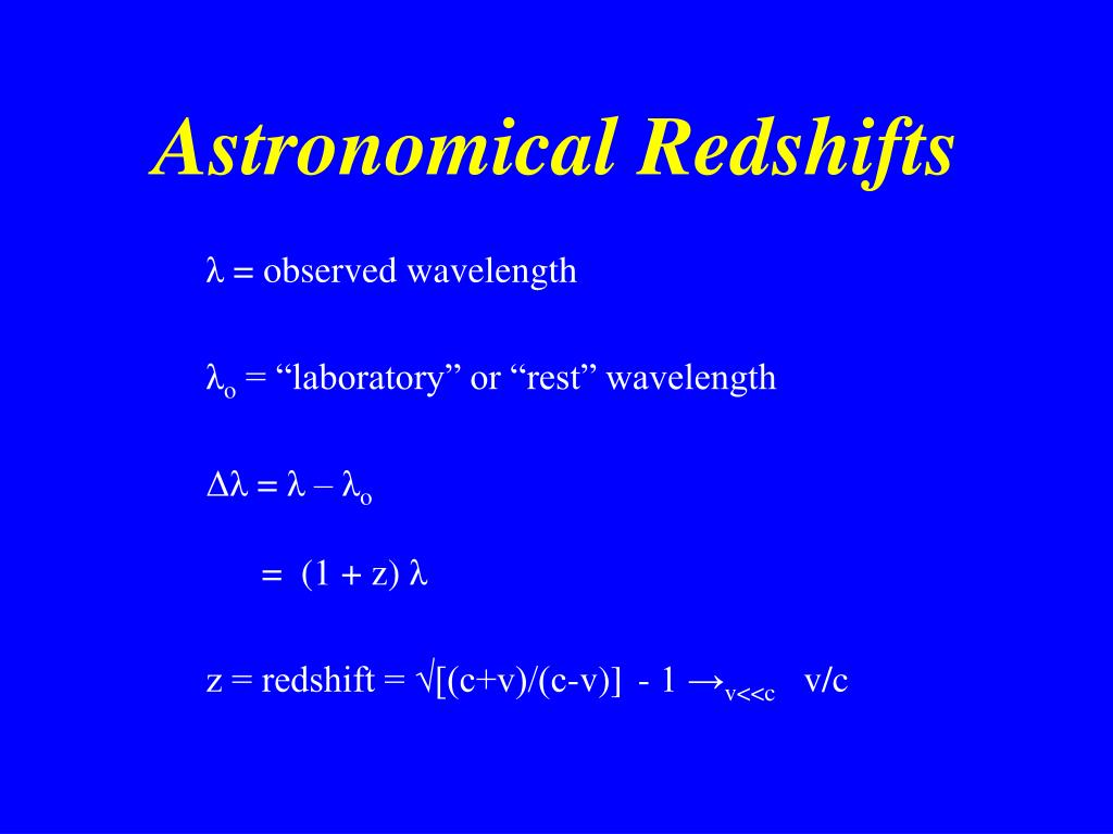 Astronomical Redshifts