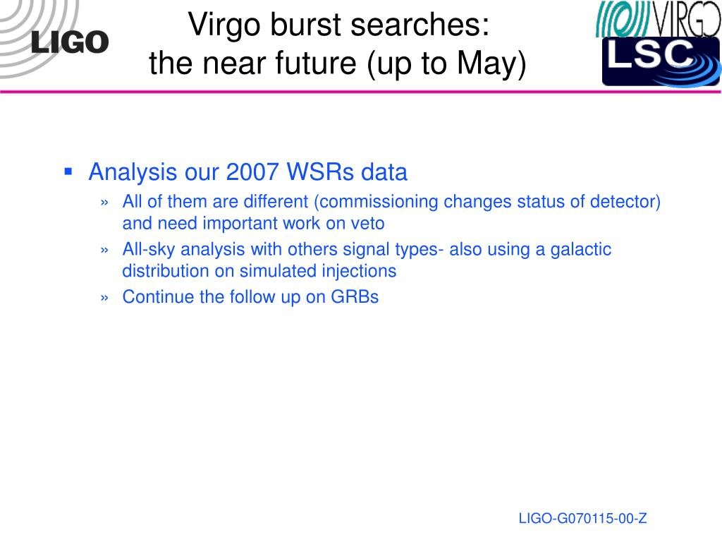 Virgo burst searches: