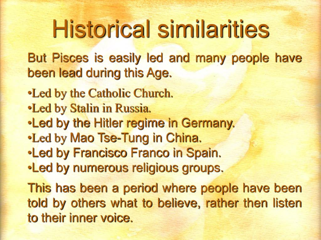 But Pisces is easily led and many people have been lead during this Age.