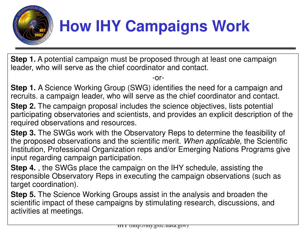 How IHY Campaigns Work