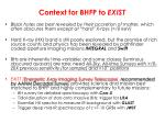 context for bhfp to exist