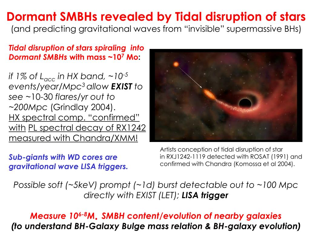 Dormant SMBHs revealed by Tidal disruption of stars