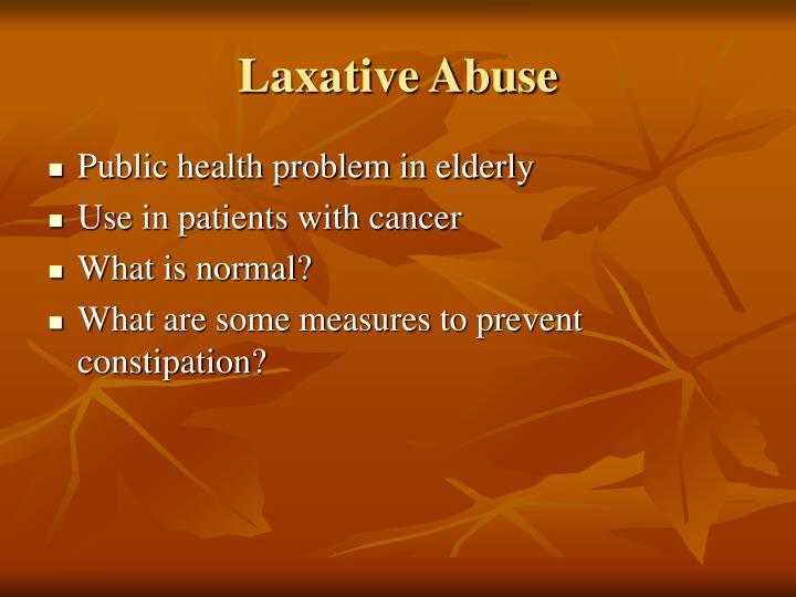 Laxative Abuse
