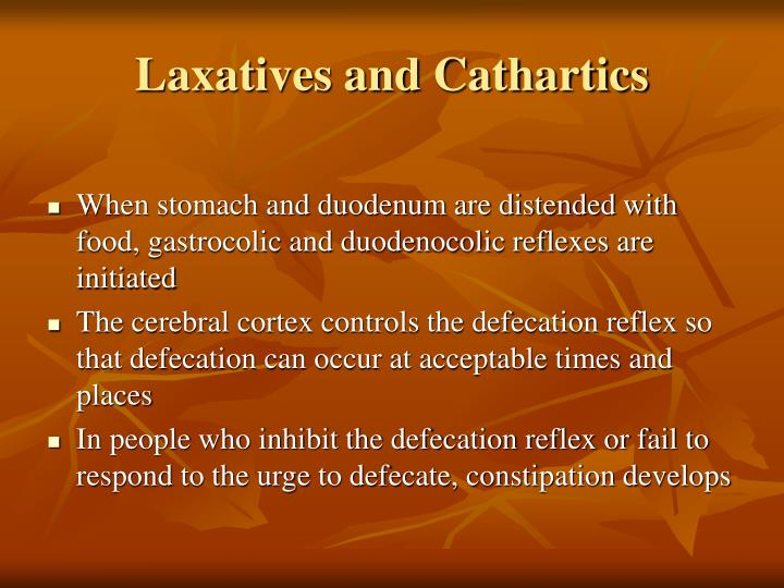 Laxatives and Cathartics
