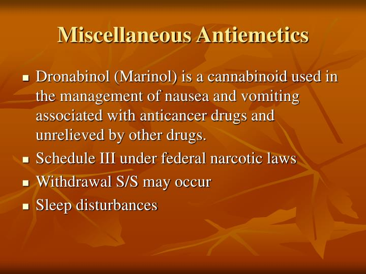 Miscellaneous Antiemetics