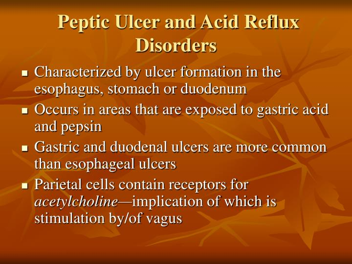 Peptic Ulcer and Acid Reflux Disorders