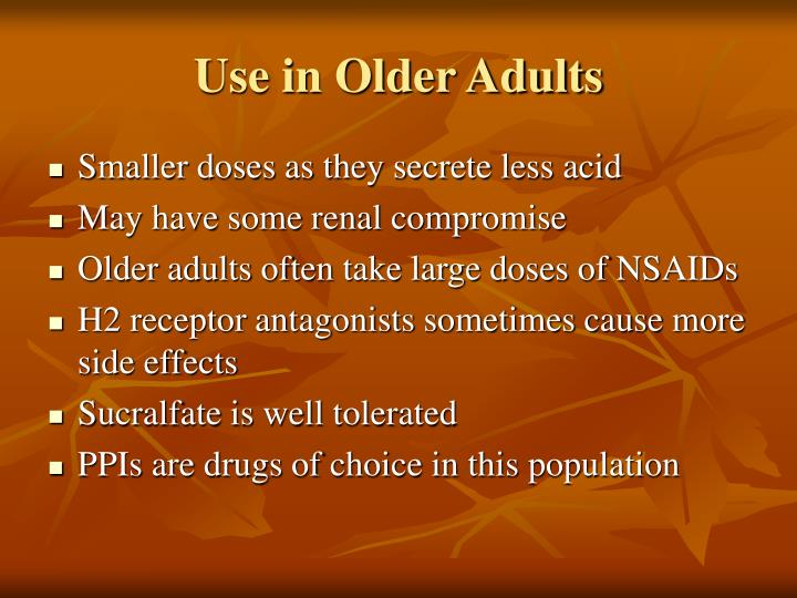 Use in Older Adults