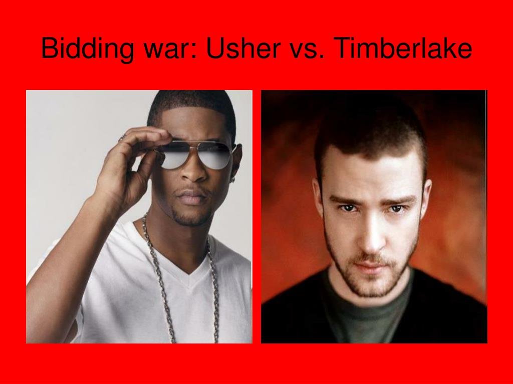 Bidding war: Usher vs. Timberlake