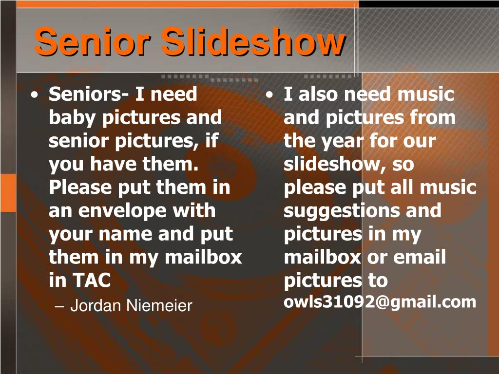 Senior Slideshow
