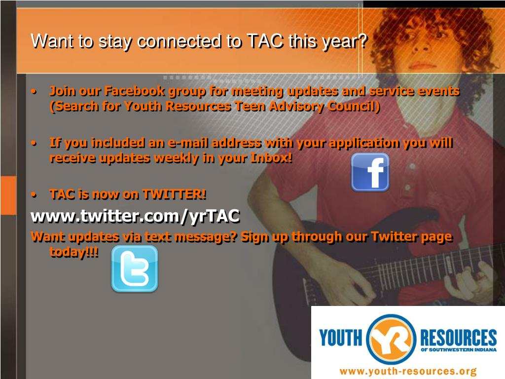 Want to stay connected to TAC this year?