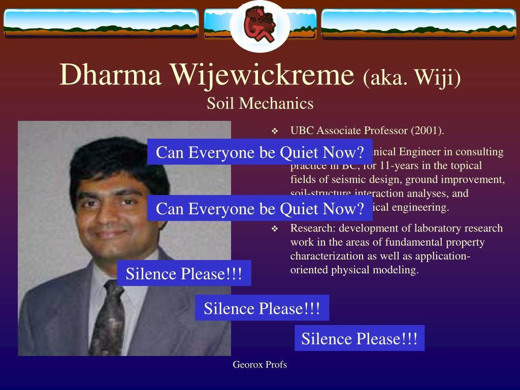 Dharma Wijewickreme