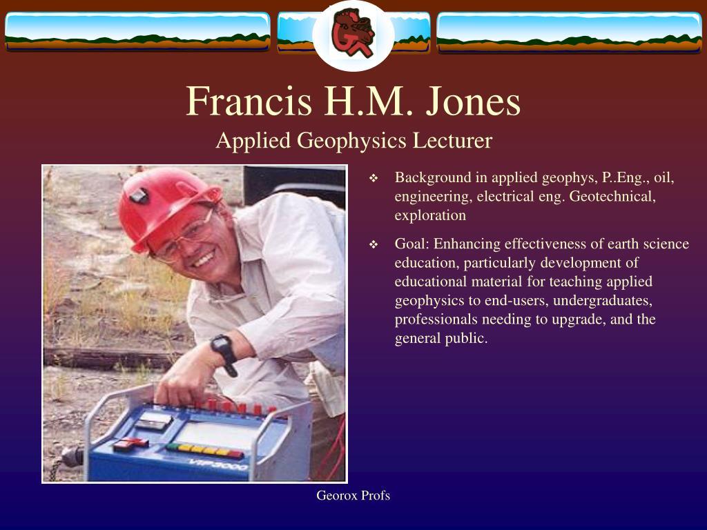 Francis H.M. Jones