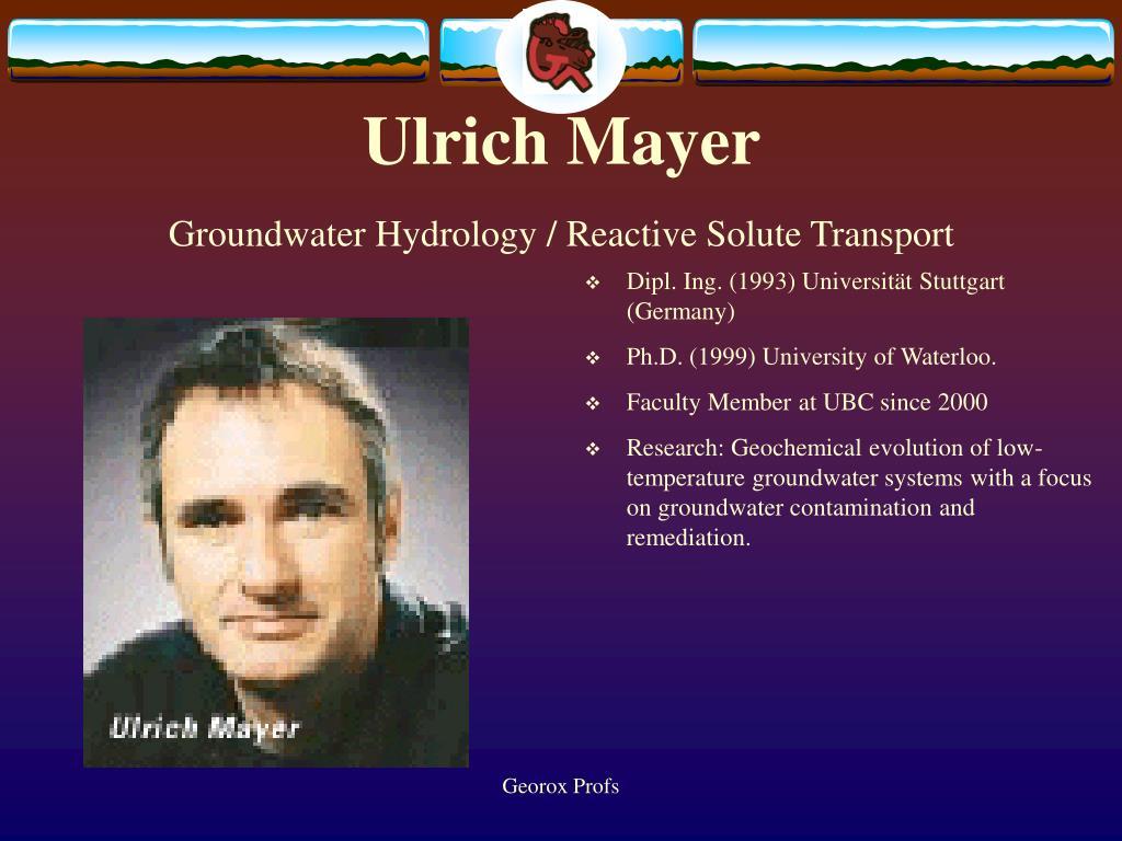 Ulrich Mayer