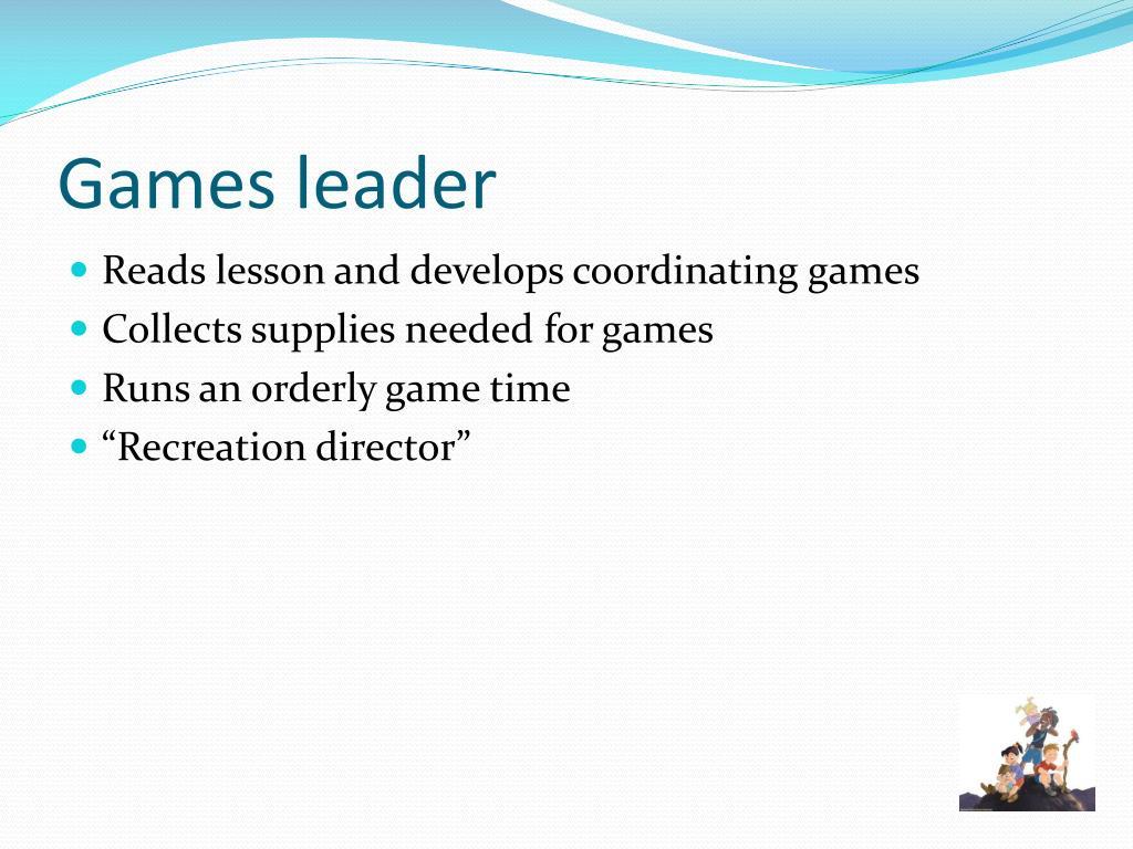 Games leader