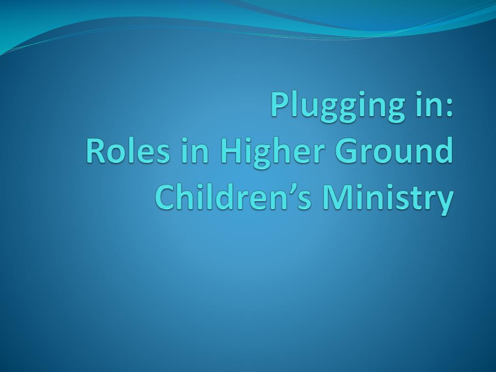 Plugging in: