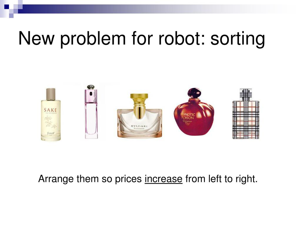 New problem for robot: sorting