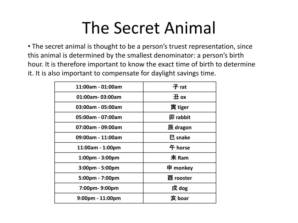 The Secret Animal