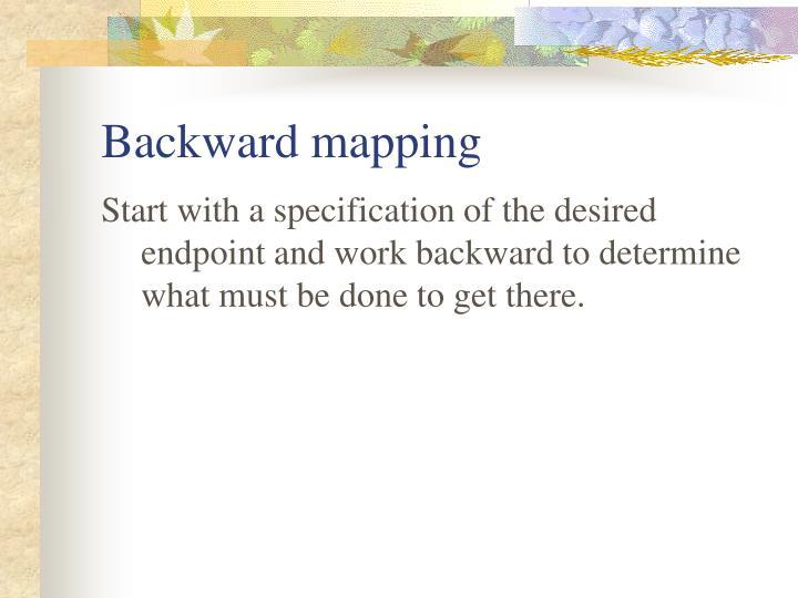 Backward mapping