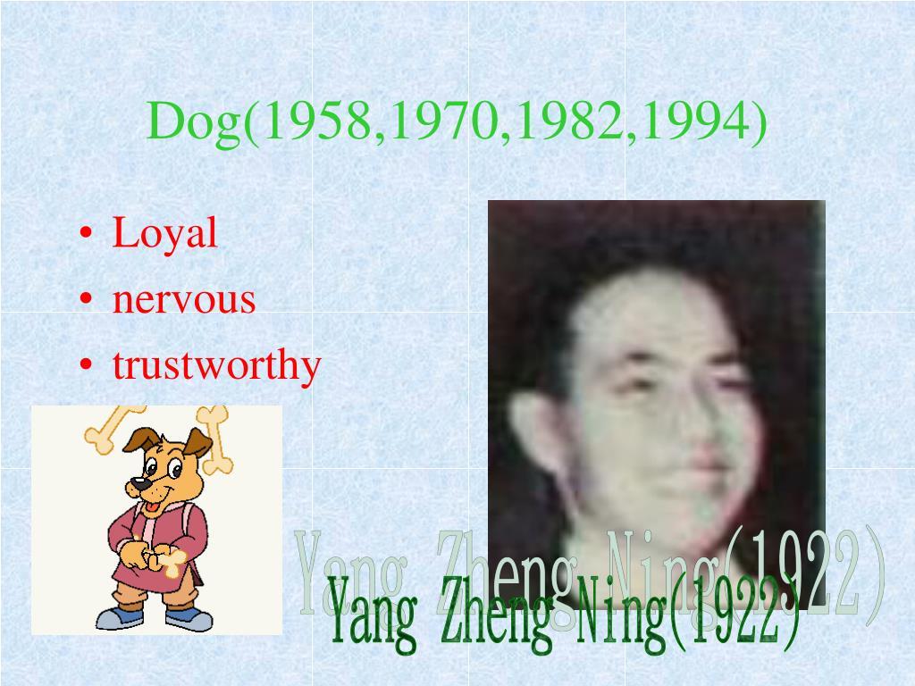 Dog(1958,1970,1982,1994)