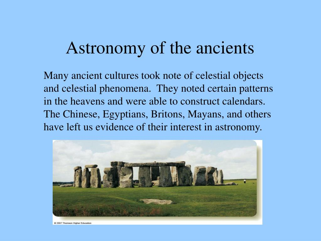 Astronomy of the ancients