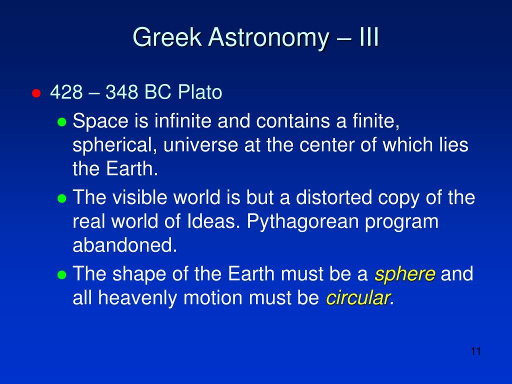 Greek Astronomy – III