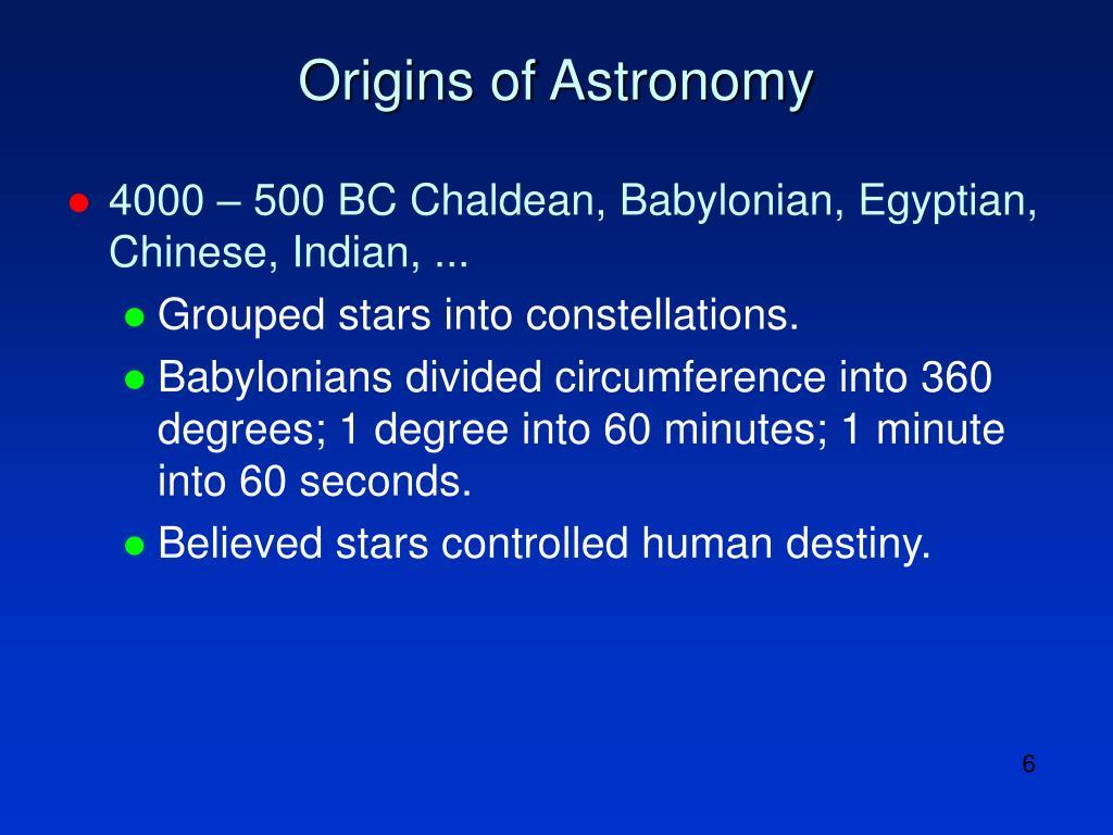 Origins of Astronomy