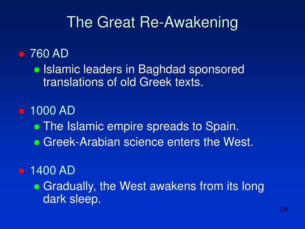 The Great Re-Awakening