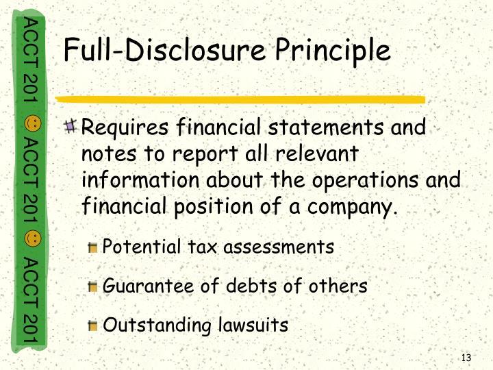 Full-Disclosure Principle