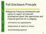 full disclosure principle