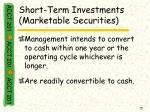 short term investments marketable securities
