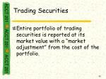 trading securities1