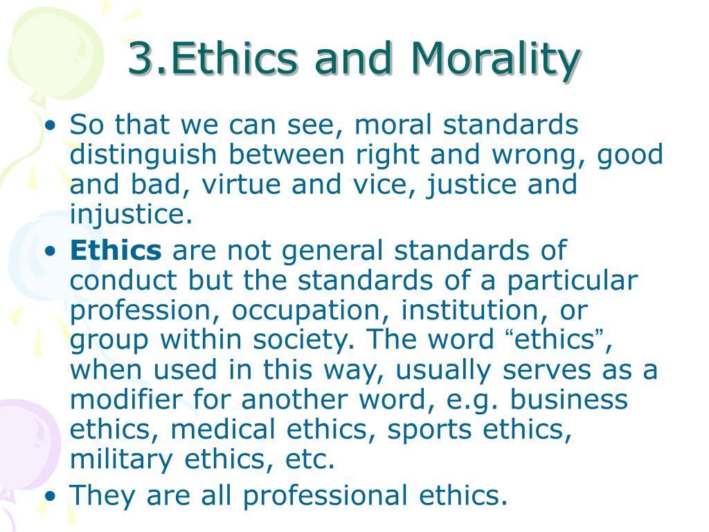 3.Ethics and Morality