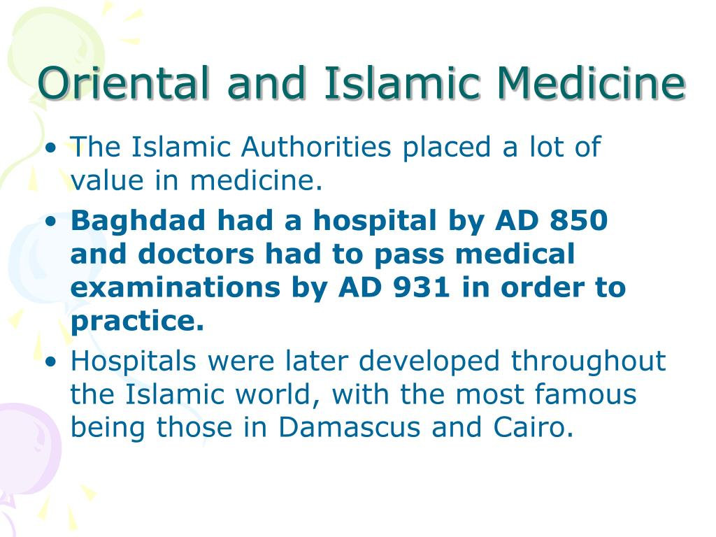 Oriental and Islamic Medicine