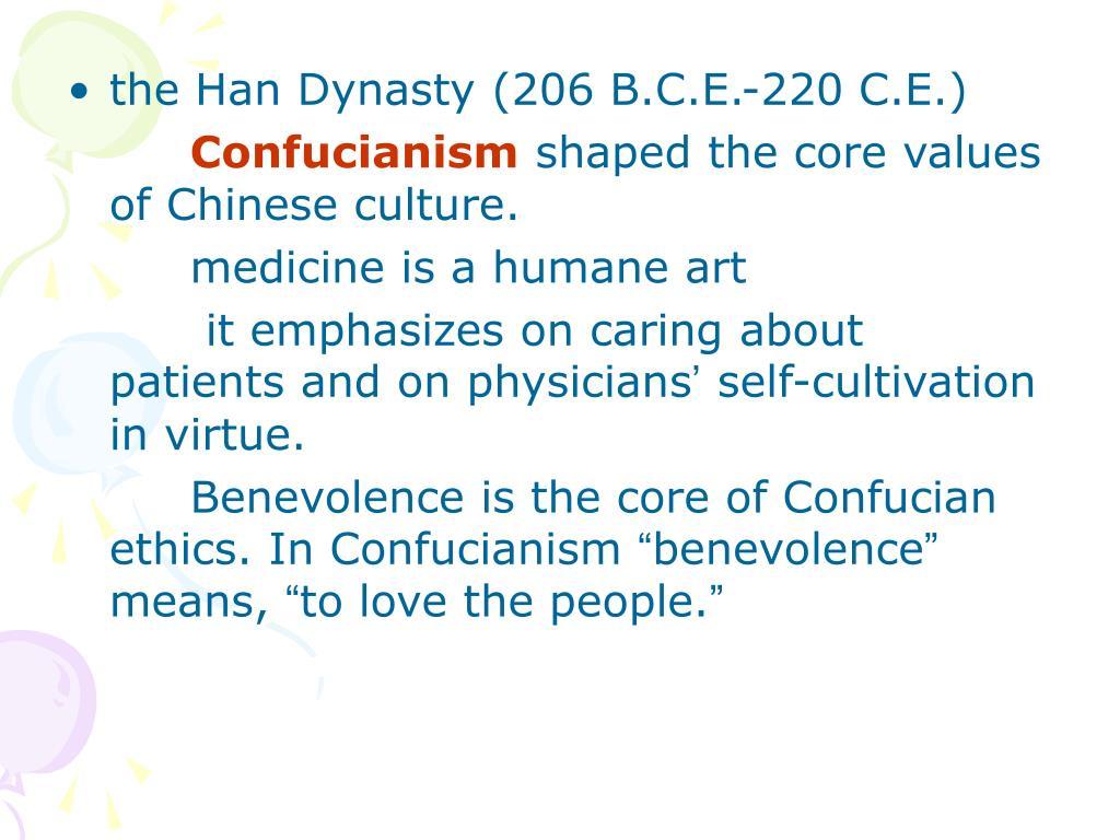 the Han Dynasty (206 B.C.E.-220 C.E.)
