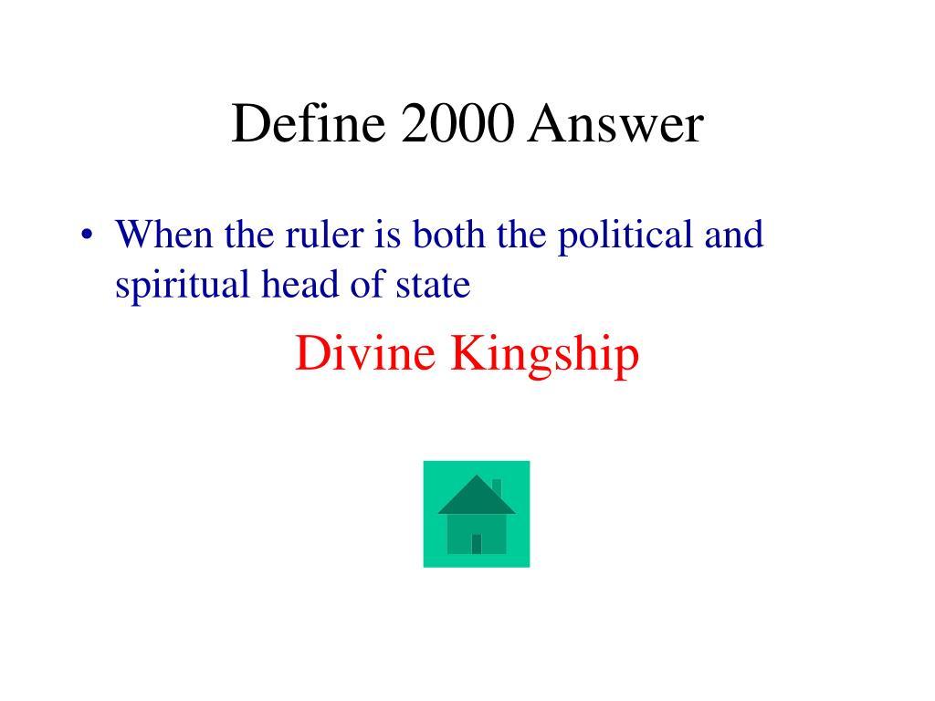 Define 2000 Answer