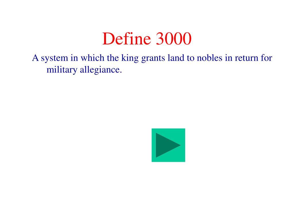 Define 3000