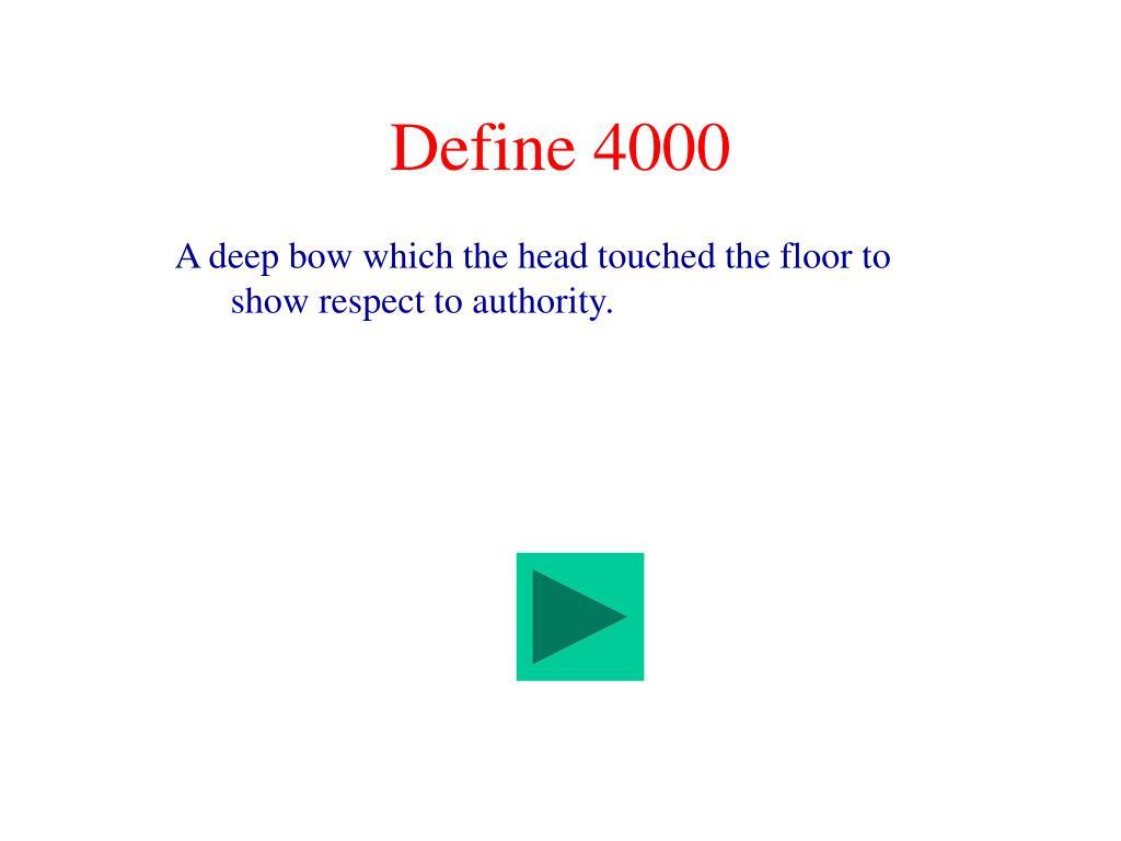 Define 4000