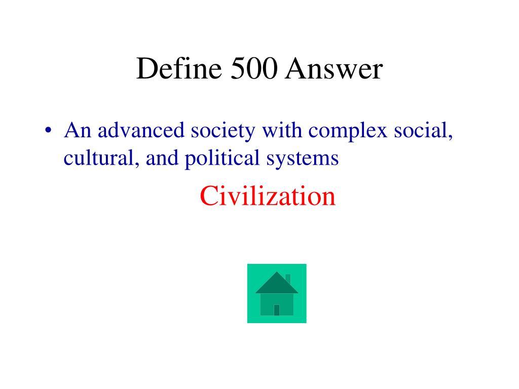 Define 500 Answer