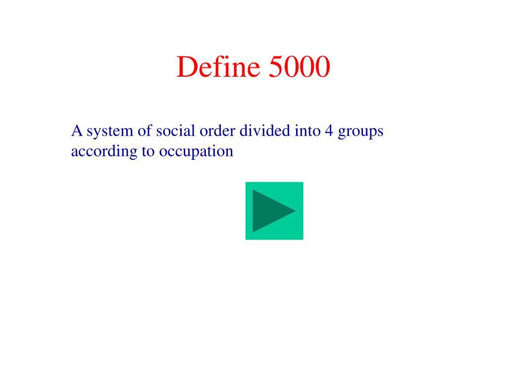 Define 5000