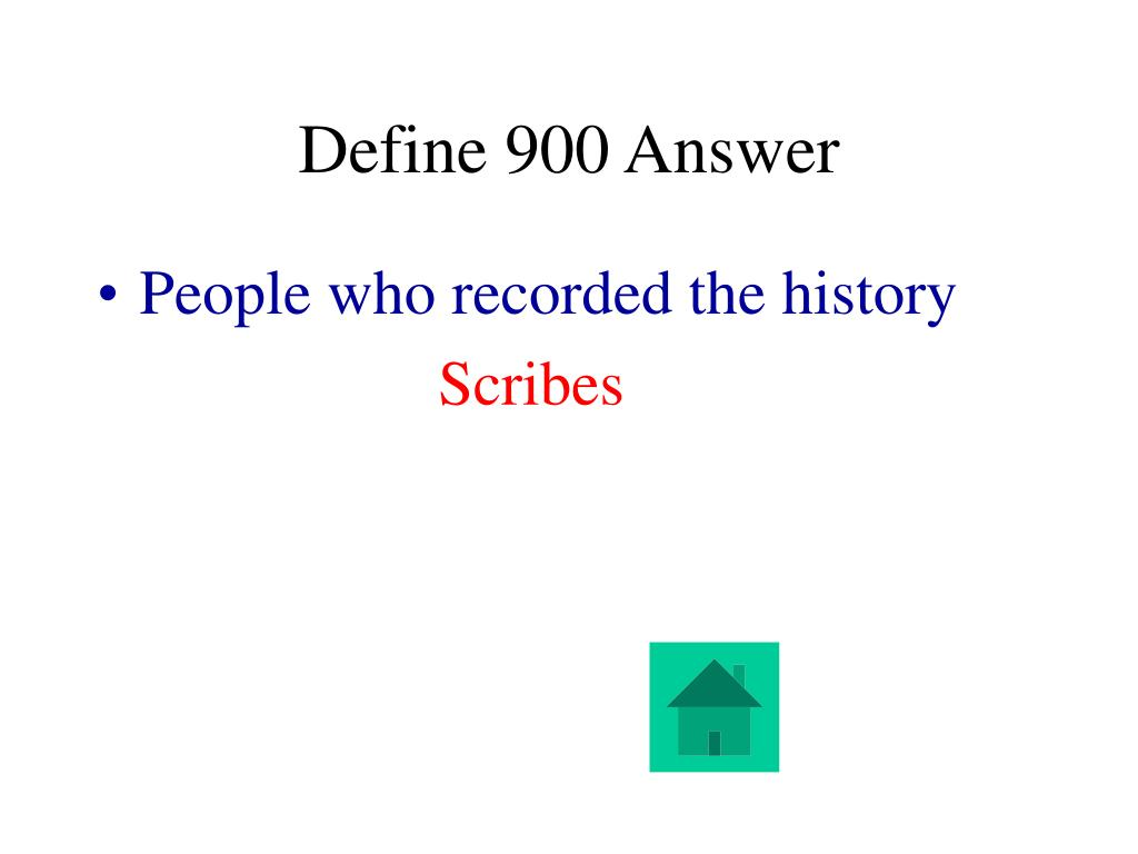Define 900 Answer