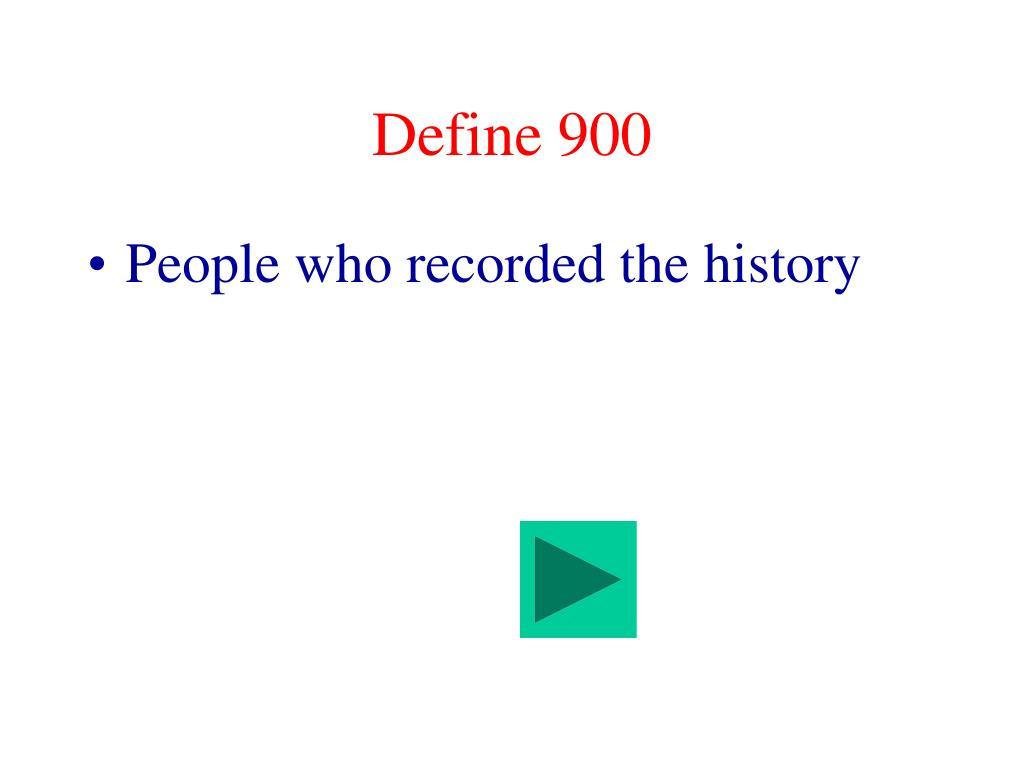 Define 900